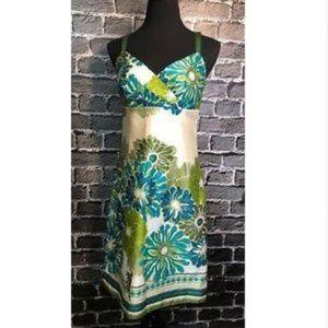 Ann Taylor Classy Empire Waist Dress Sz 6 Cotton